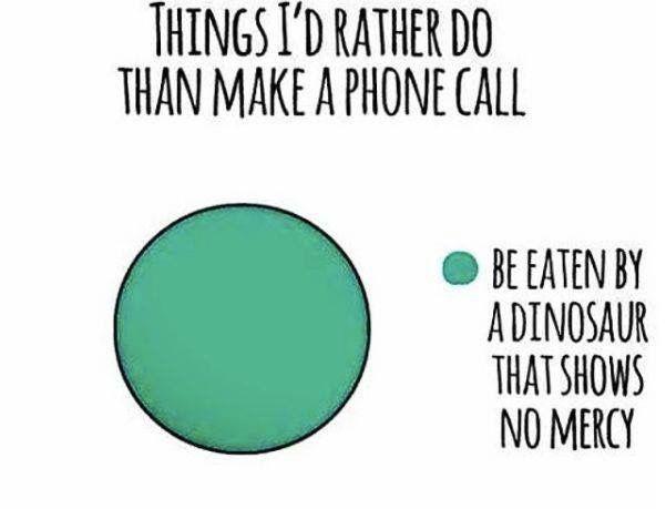 Hasil gambar untuk introvert phone call meme