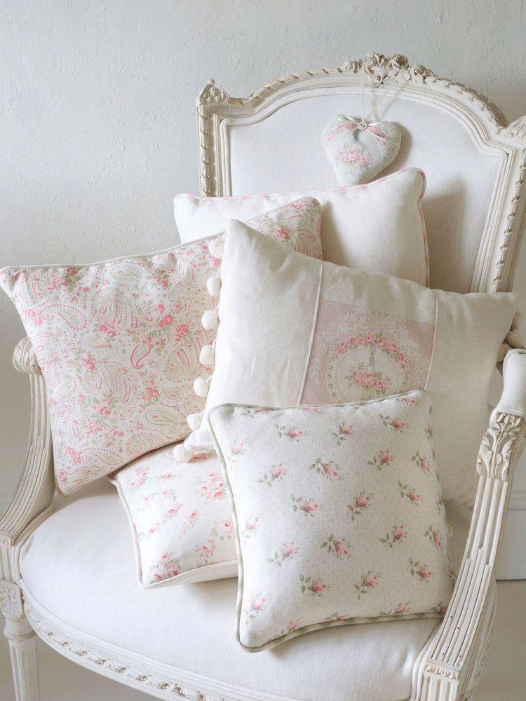 french vintage chic chair and cushions shabbychicdecor shabby rh pinterest com