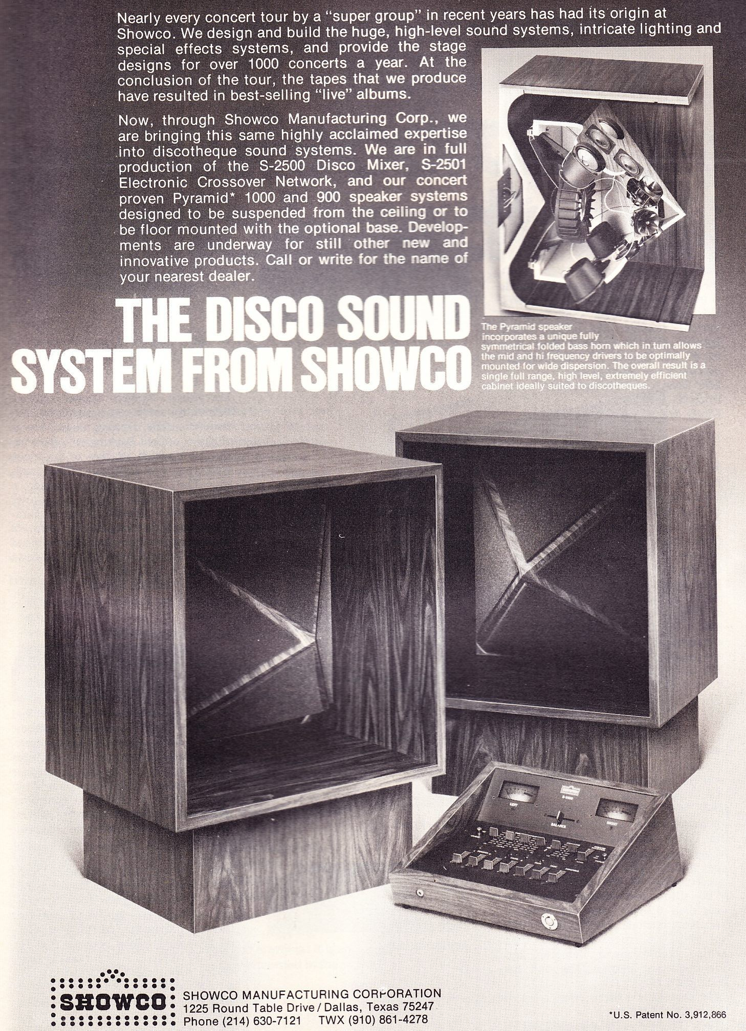 Radical design by showco used active equalization and stereo image