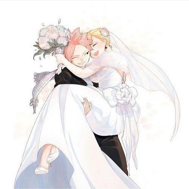 Nalu married ❤ | FairyTail | Pinterest | Pareja manga, Pareja y ...