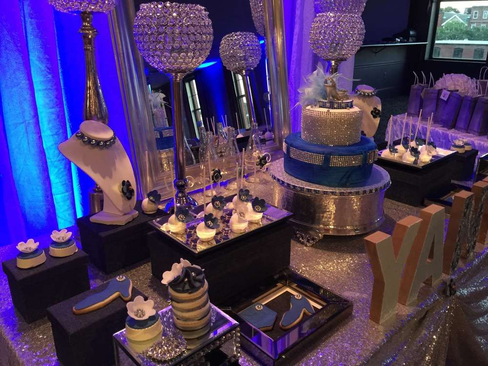 Glam Diamonds And Denim Birthday Party See More Ideas At CatchMyParty