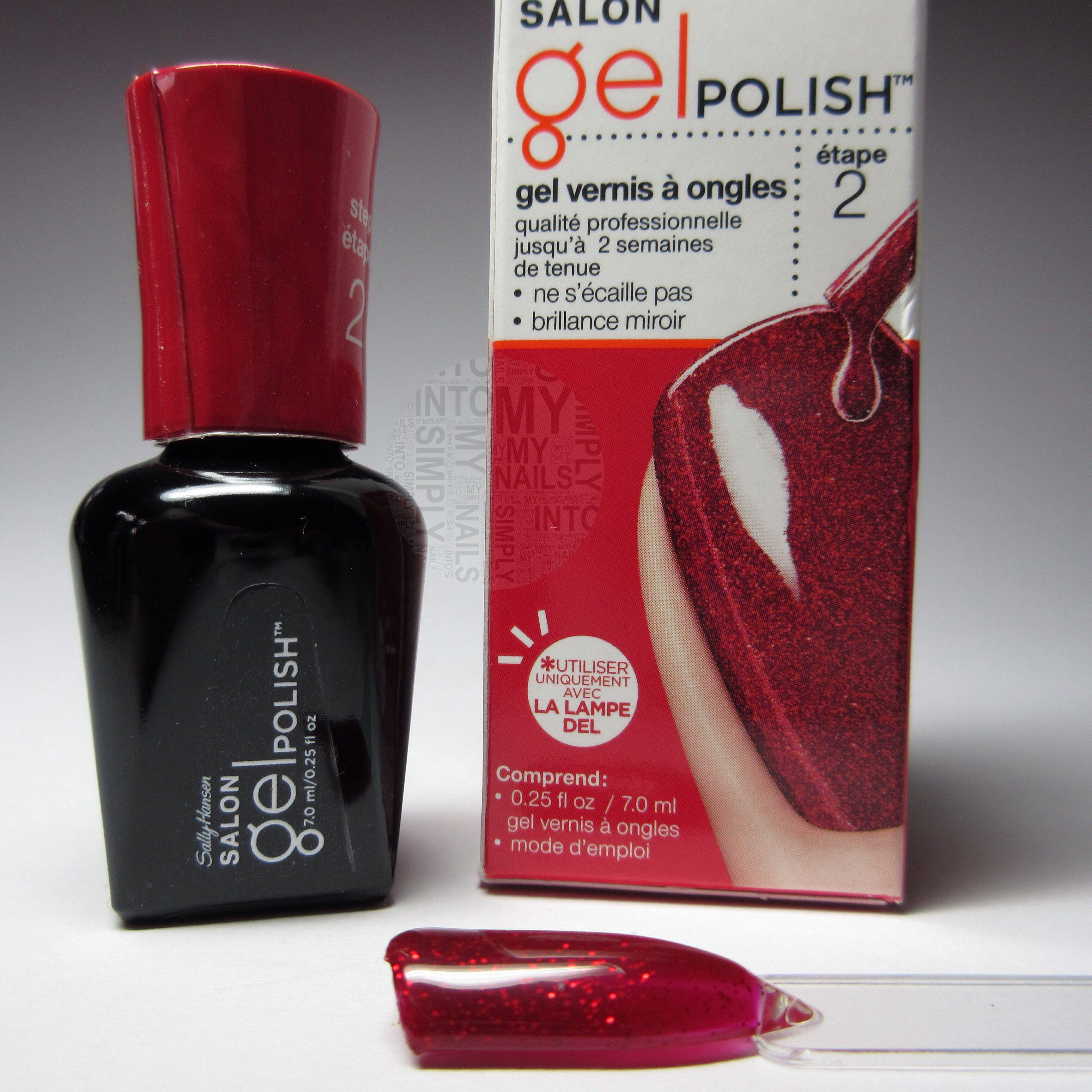Red Haute Sally Hansen Salon Gel Polish Gel polish