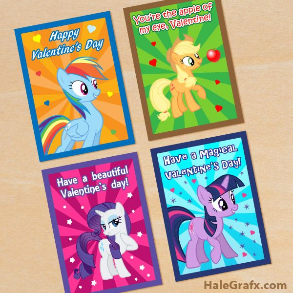 FREE Printable My Little Pony Valentines Valentines Day