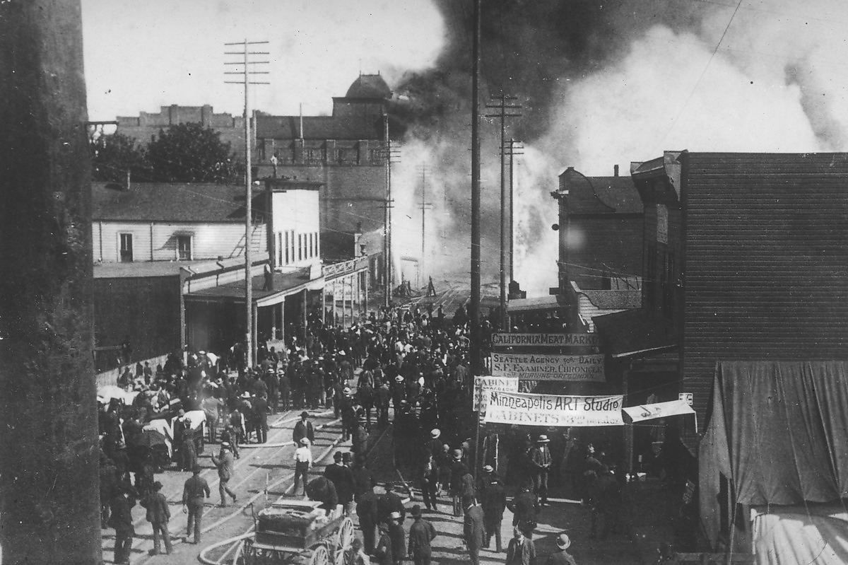 10 Photos Before & After The Great Seattle Fire of 1889 - Sepia Tones - Curbed Seattle