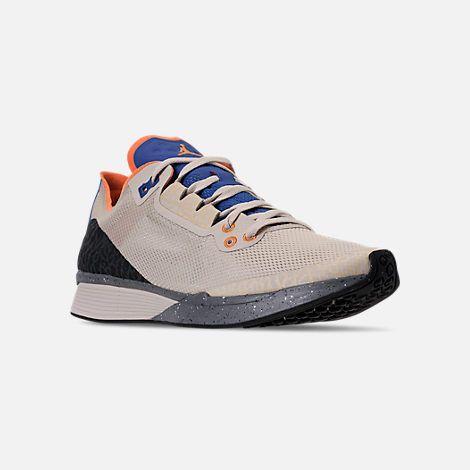 newest a7c96 4e11d Three Quarter view of Men s Jordan  88 Racer Running Shoes in  Birch Mandarin Game Royal Black