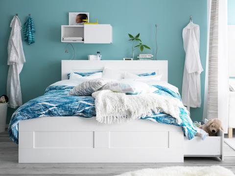 ikea bett in wei bett ikea wei cm wie neu in erlangen betten modern - Ikea Schlafzimmer Modern