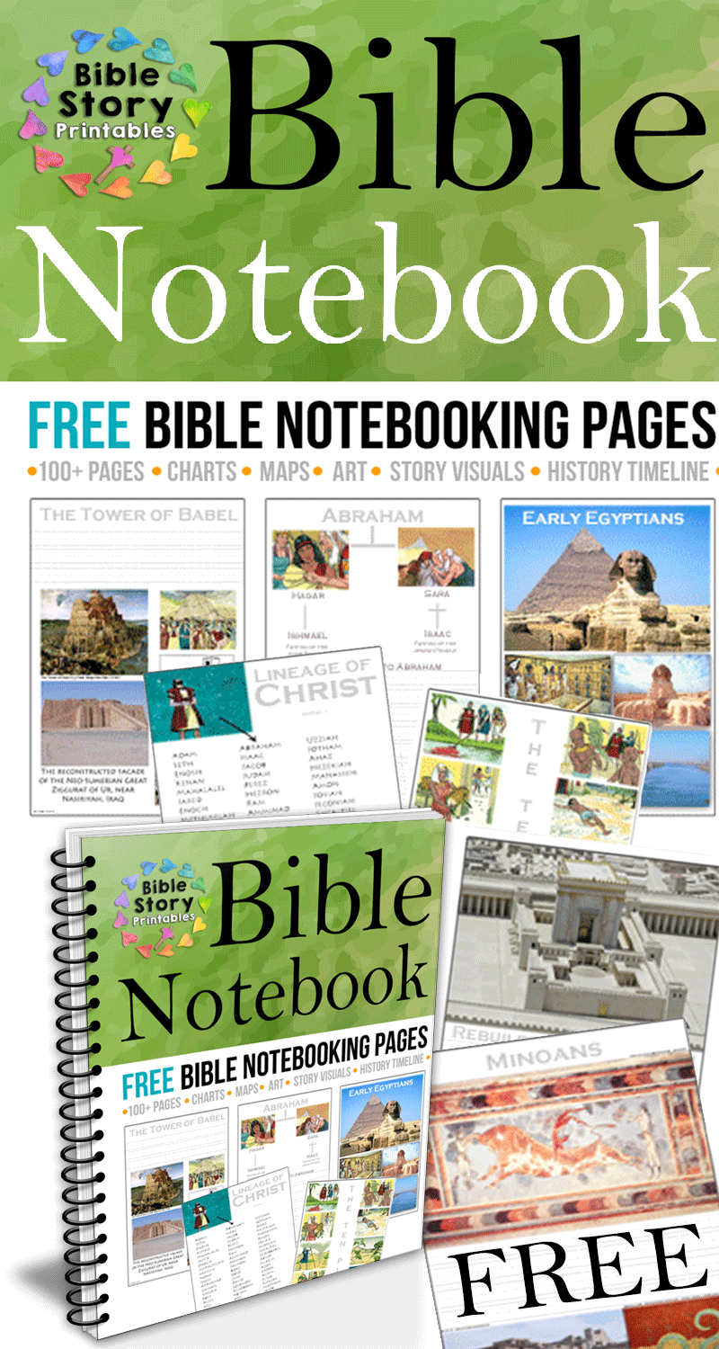 Free Bible Notebooking Pages. Full Color Visuals for homeschool ...