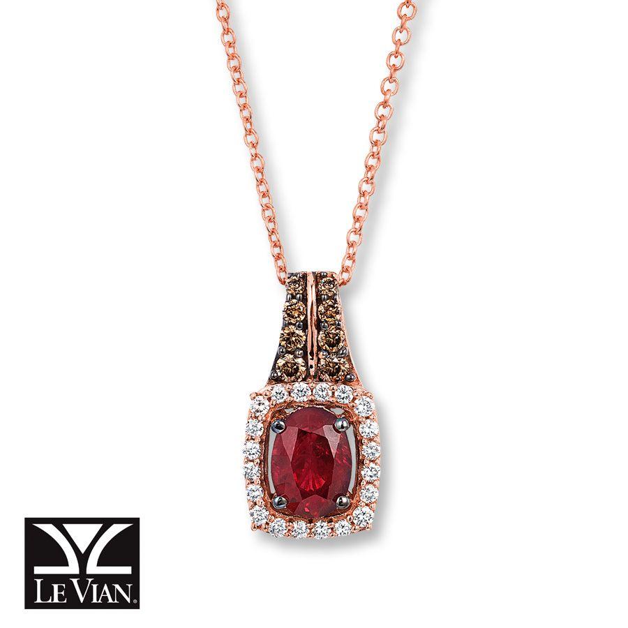 Le Vian Sapphire Necklace 1/4 ct tw Diamonds 14K Gold yKWY670EXu