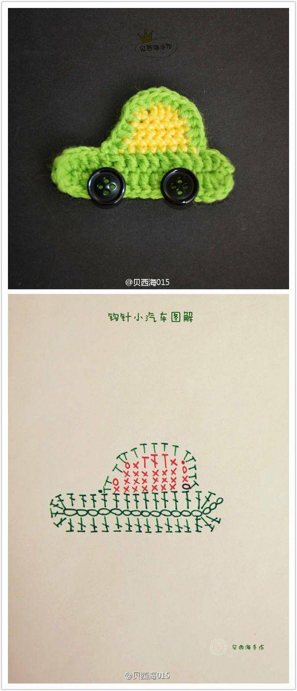 crochet car | Projects to Try | Pinterest | Apliques, Aplicación y ...