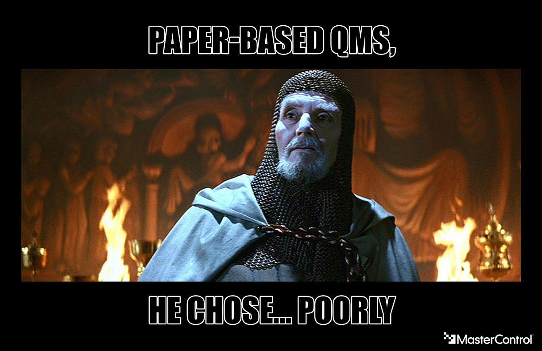 Paper based QMS