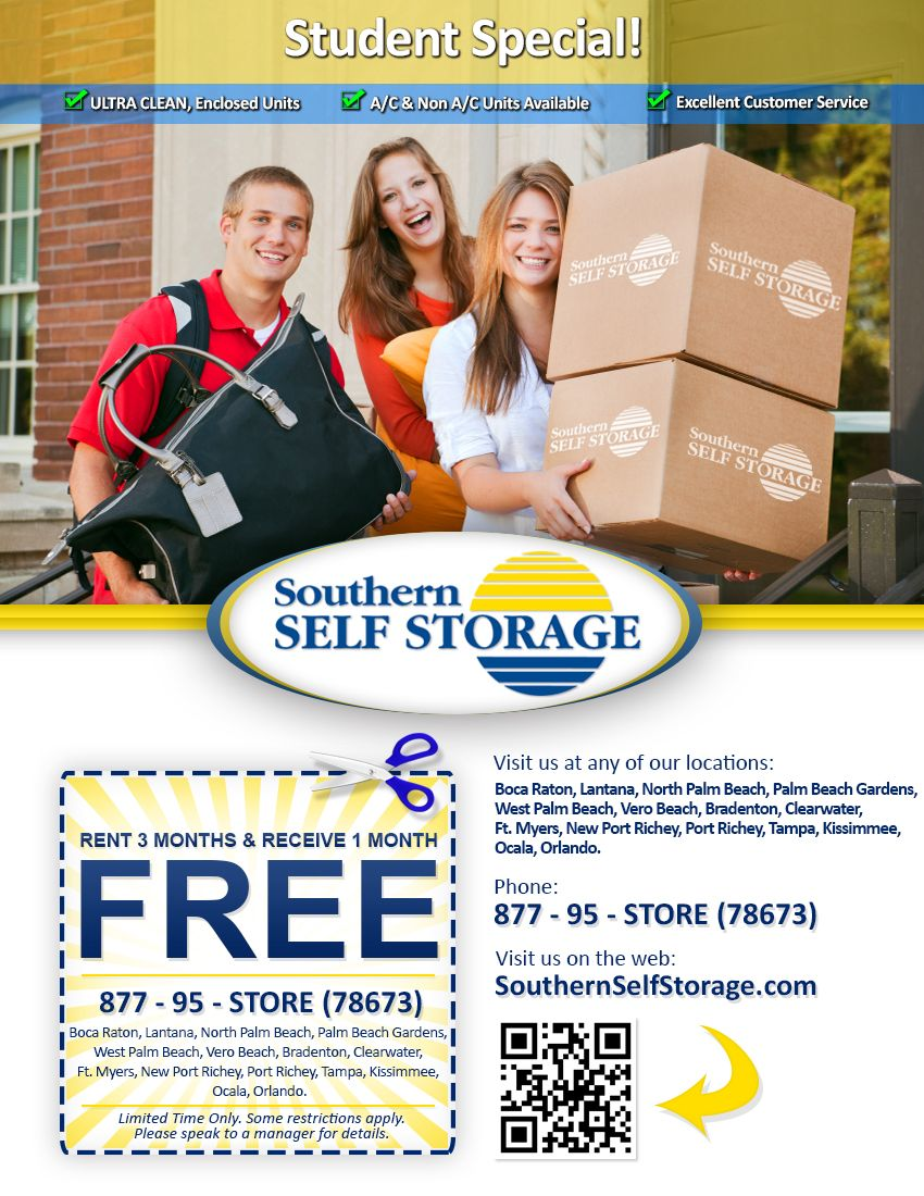 The Southern Self Storage Student Special Self Storage Palm