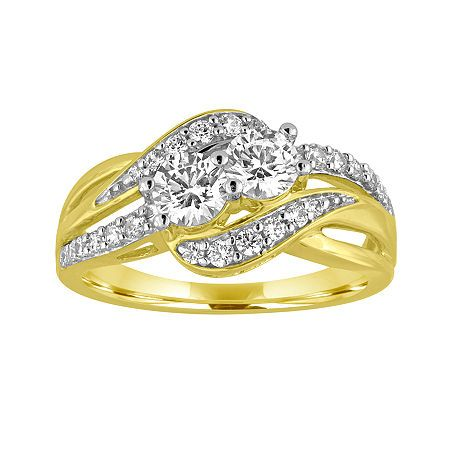 Two Forever™ 1 C.T. TW. Diamond 10K Yellow Gold Ring, Color: Yellow Gold - JCPenney