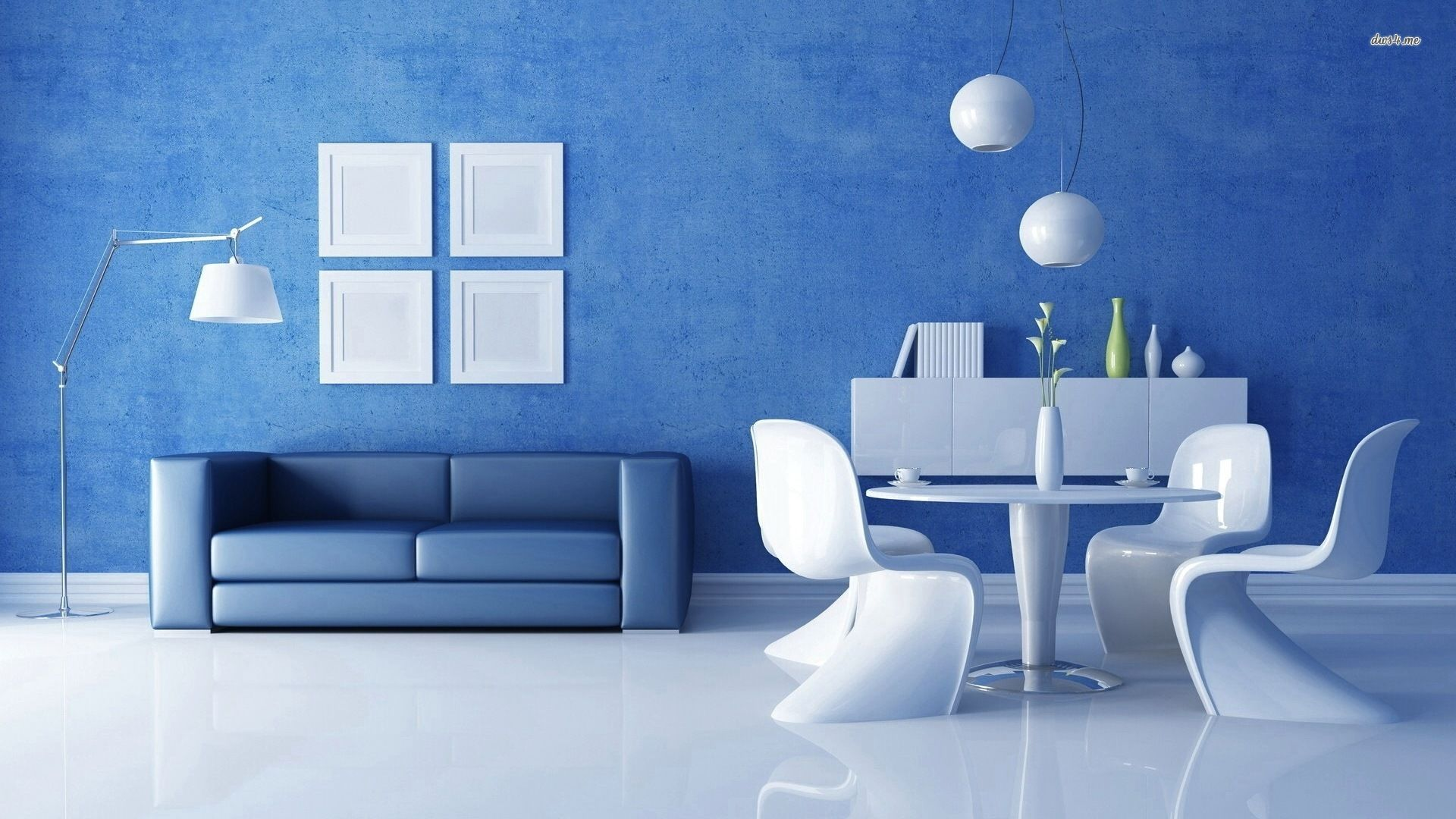 Pin by ron mcdeez on blue room living room colors - Blue and white interior design ideas ...