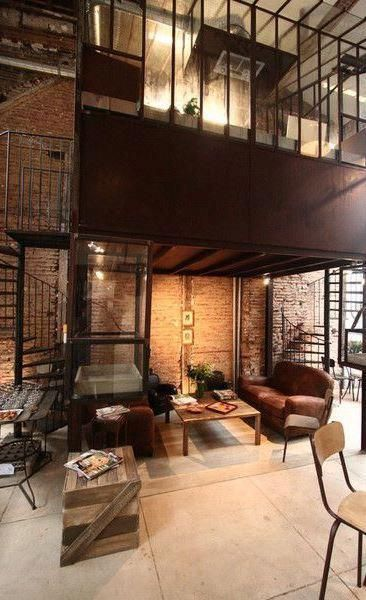 loft interior design industrialhomedecor industrial home decor in rh pinterest com