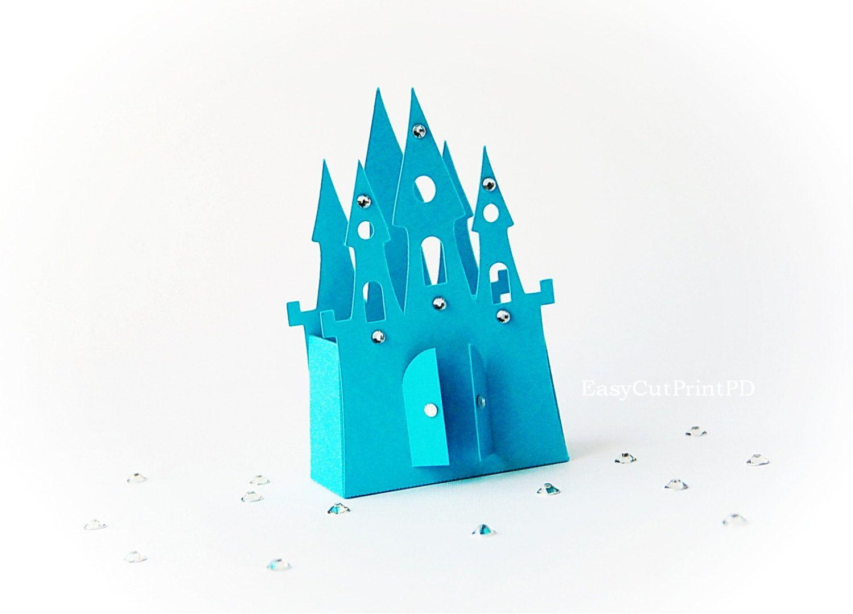 disney princess party invitation templates%0A SVG DXF PNG Princess Frozen Castle box template baby girl party Cutting  digital Cinderella Silhouette Cameo Cricut cutter EasyCutPrintPD