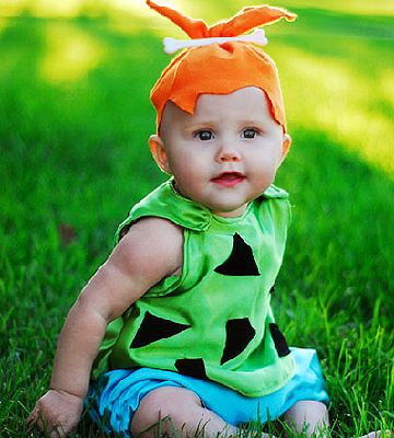 ... an orange felt hat complete with a bone tops off this precious pebbles flintstone costume submitted ...  sc 1 st  Best Kids Costumes & Pebbles Kids Costume - Best Kids Costumes