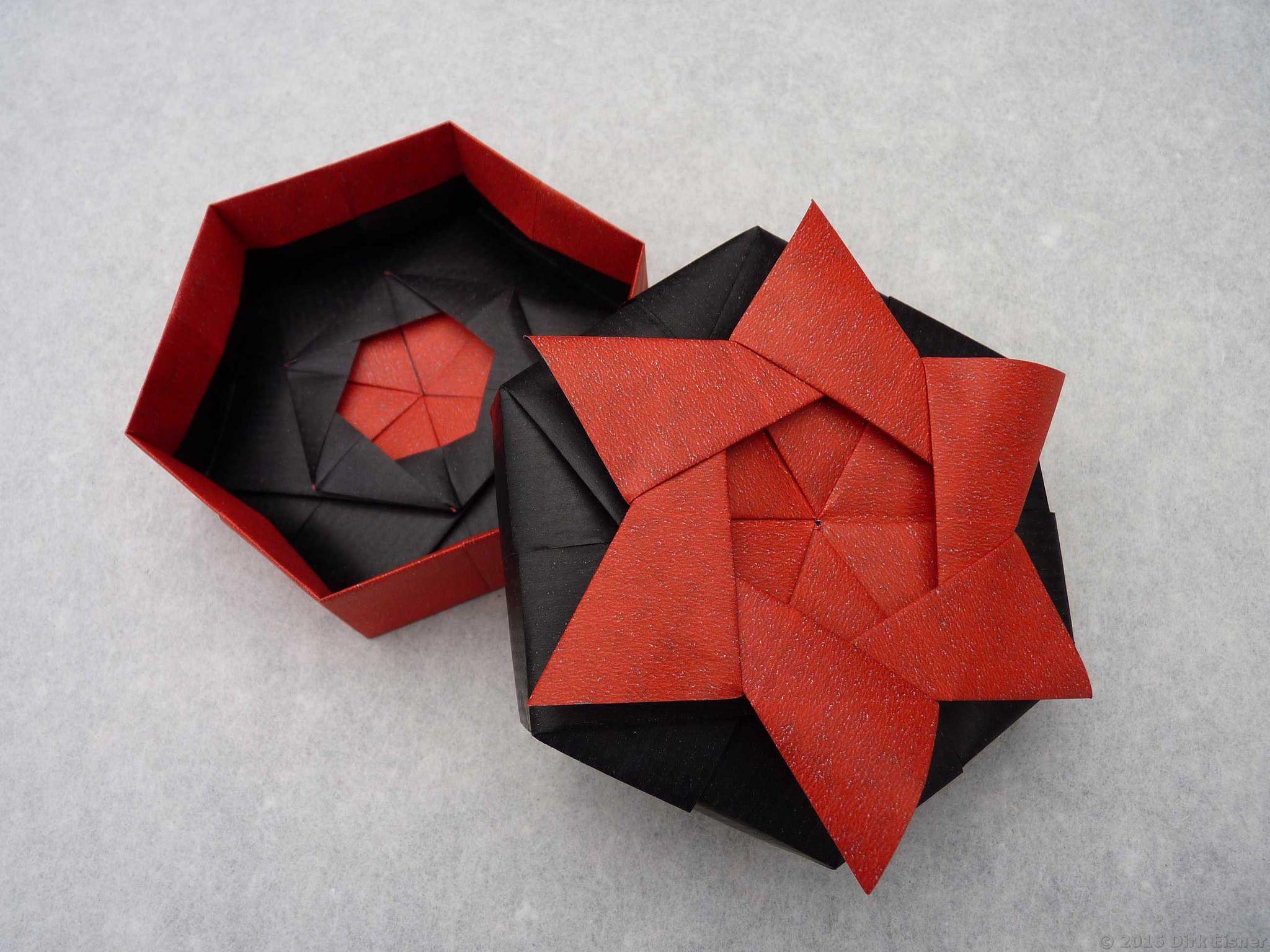 Hexagon Star Box Origami Crafts Diy Origami Origami Box