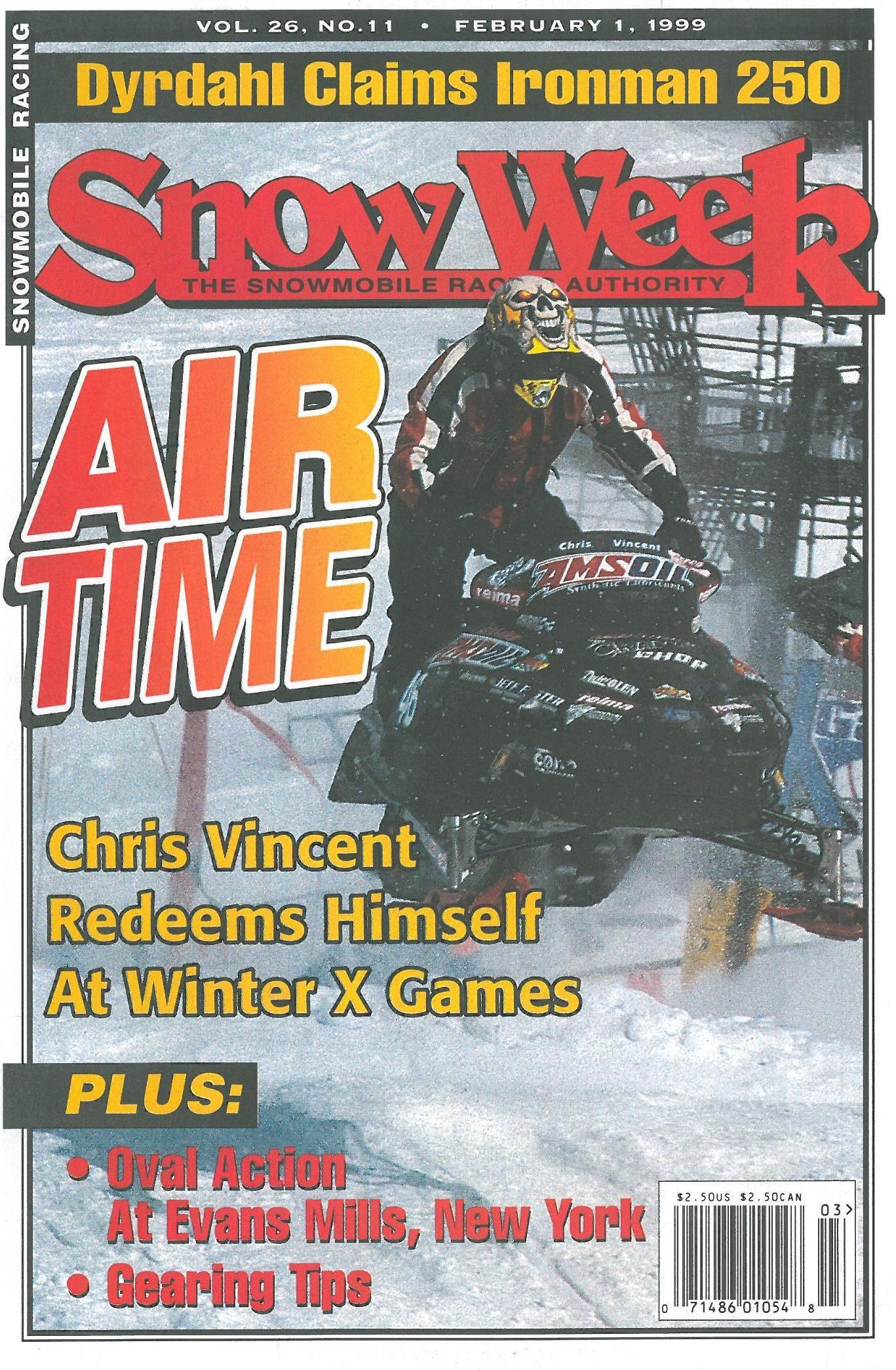 First Amsoil Sponsored Snocross Racer Chris Vincent In 1999