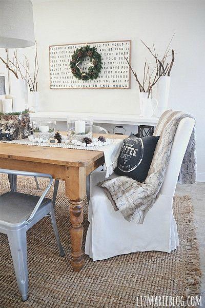ALFOMBRA  Winter dining room - lizmarieblog.com