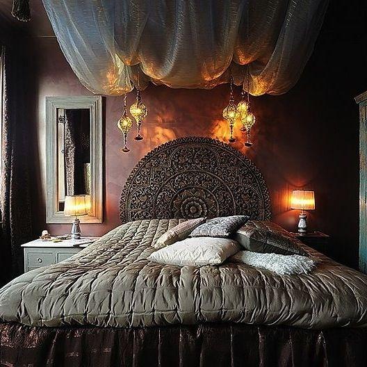 Cabecero redondo 180cm india exotica habitaci n for Decoracion de casas balinesas