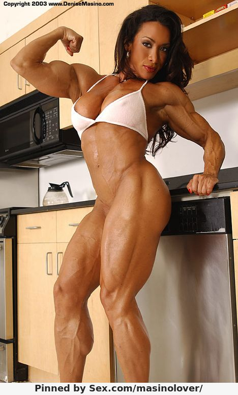 For the denise masino a girl her dog and a bone female bodybuilder congratulate