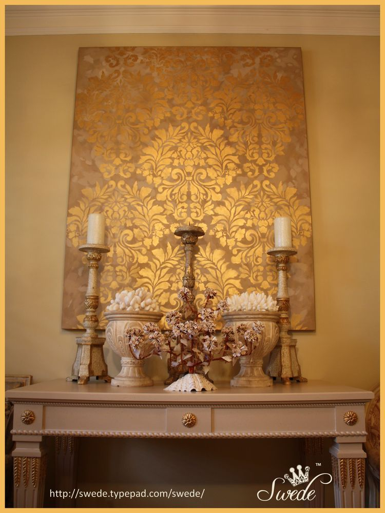The Gold Canvas That I Love Damask Wall Stencils Damask Wall