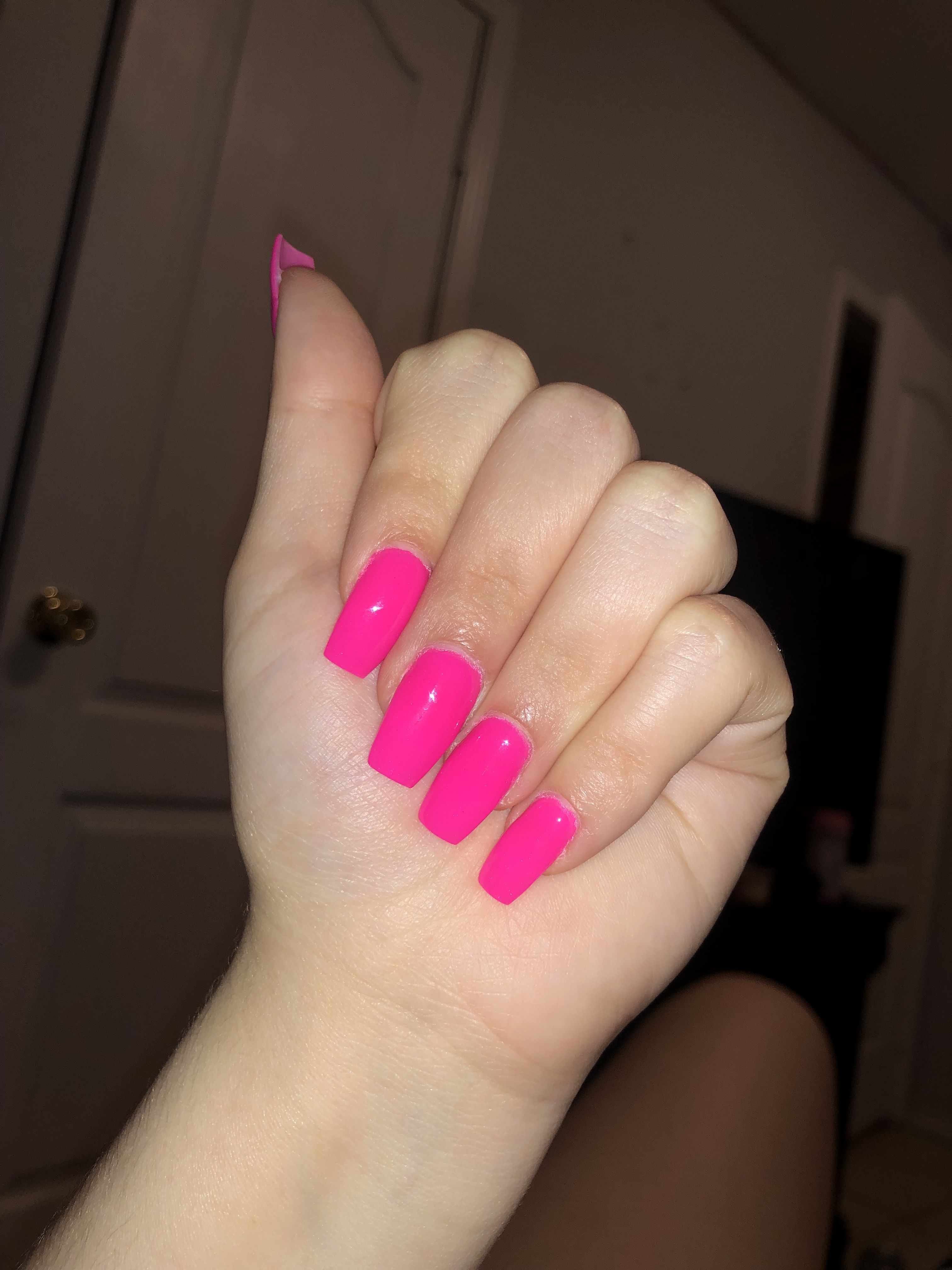 Pin By Valerie Garcia On Nails Nail Colors Pink Nails Hot Pink Nails