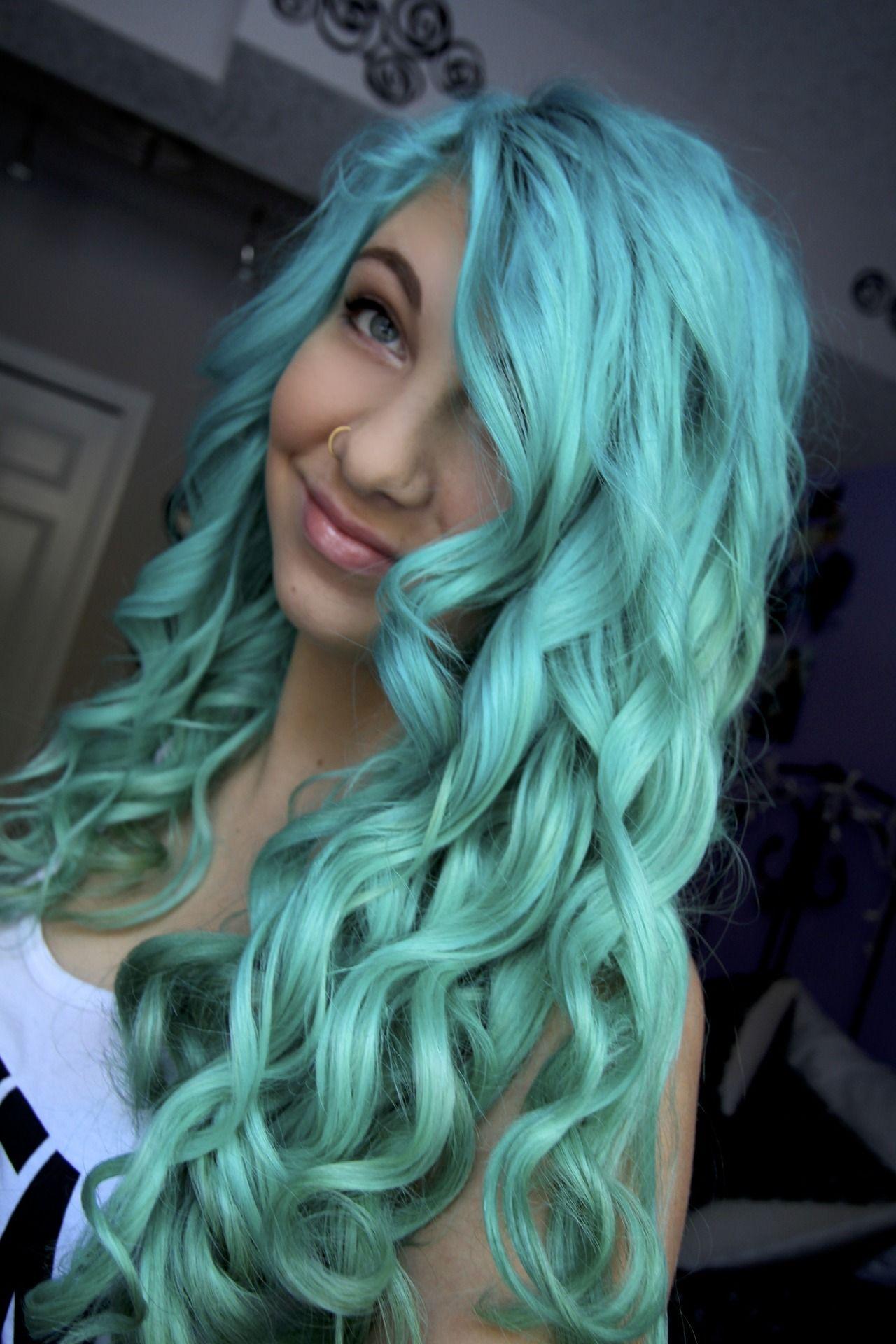 Neon aqua mermaid hair pinterest blue hair turquoise and