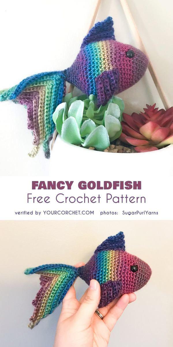 Fancy Goldfish Free Crochet Pattern – Crochet Ideas