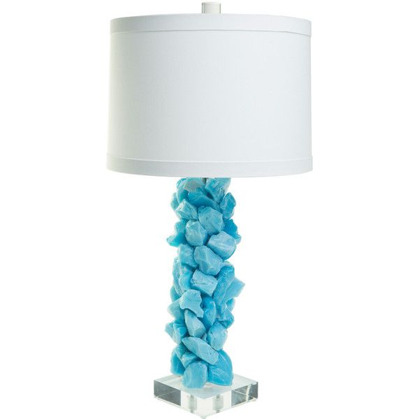 Times Two Design Slag Glass Turquoise Table Lamp Base 1 320