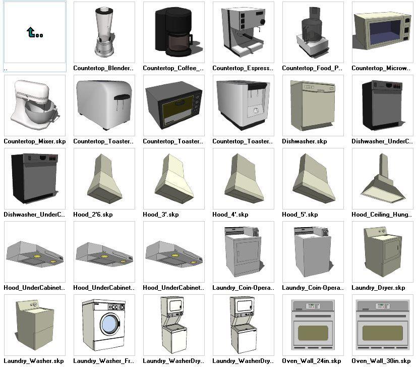 Sketchup Appliances 3D Models Download – CAD Design