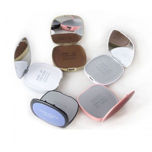 branded-power-bank-with-mirror-for-ladies (1) ideal for cosmetic  brand promotion