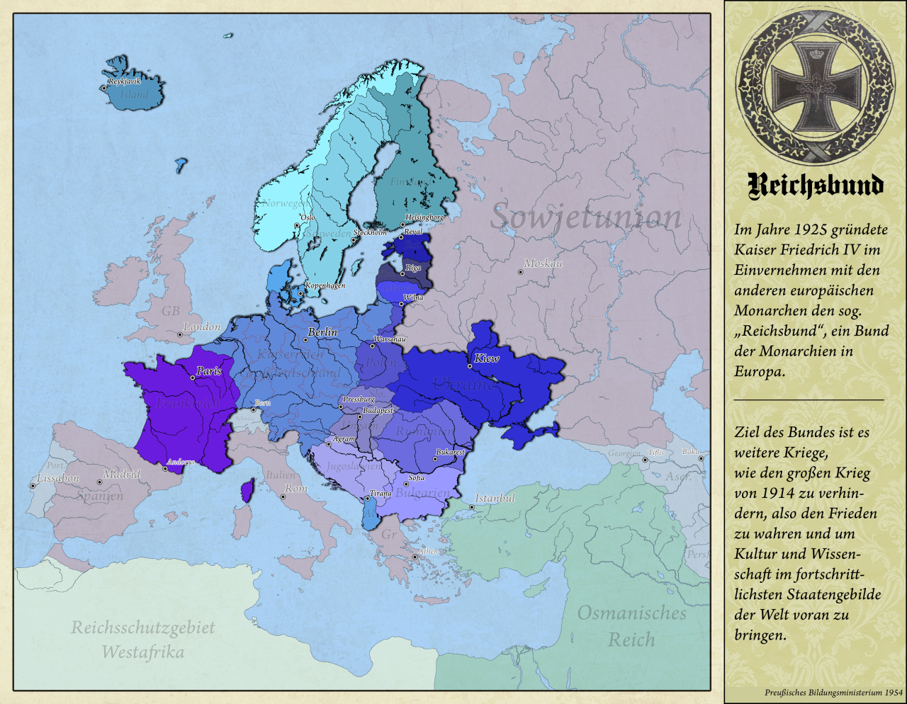 Alternate History Map For A Victorious Germany In The