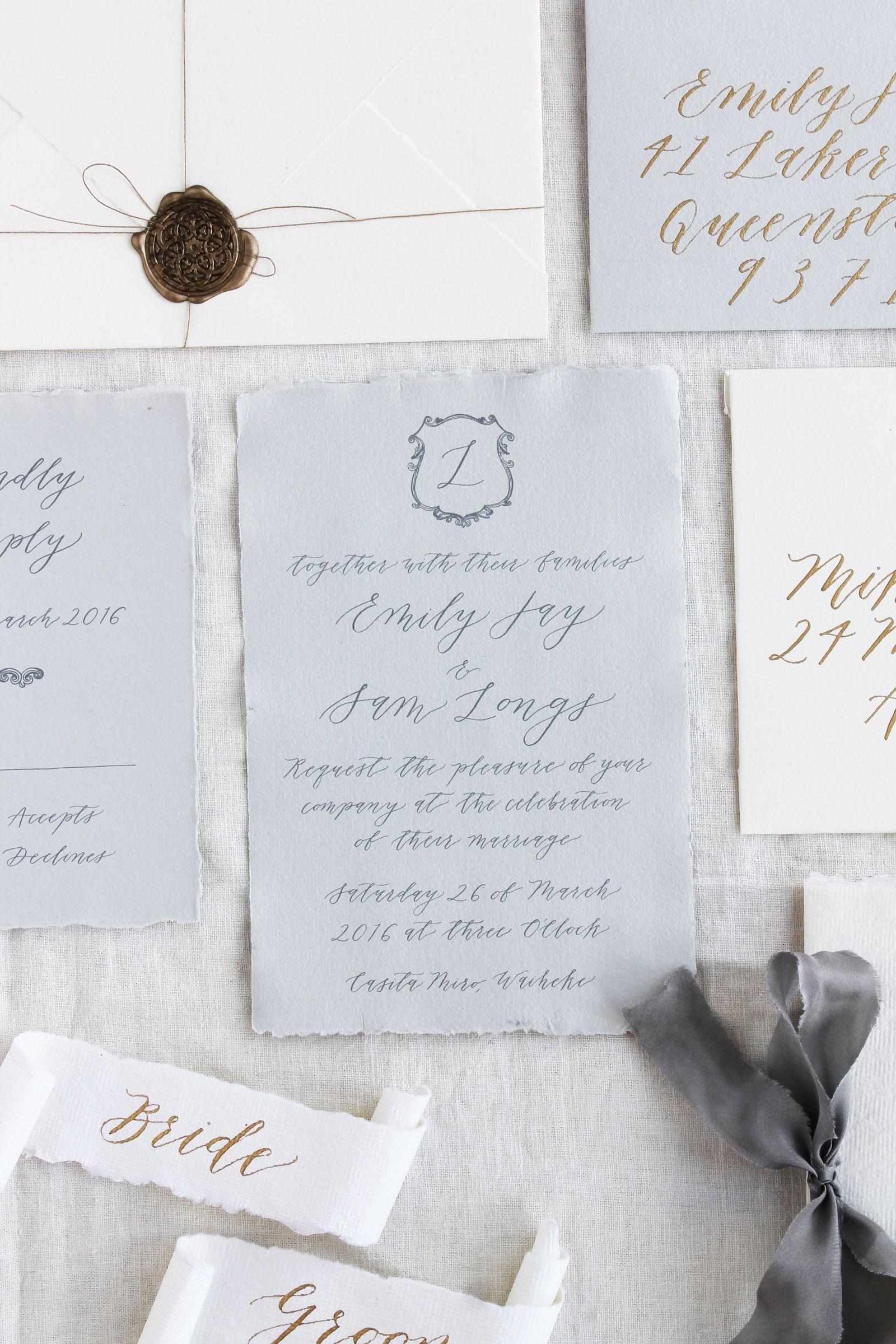 handwrite or print wedding invitation envelopes%0A Michaela McBride Calligraphy via Magnolia Rouge