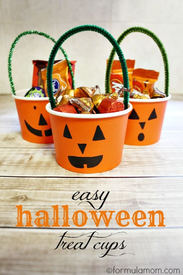 Halloween Treat Crafts Part - 48: Easy Halloween Treat Cups