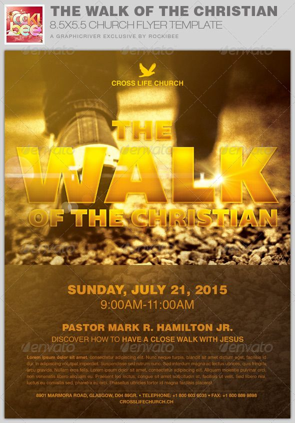 The Walk of the Christian Church Flyer Invite Template is sold ...