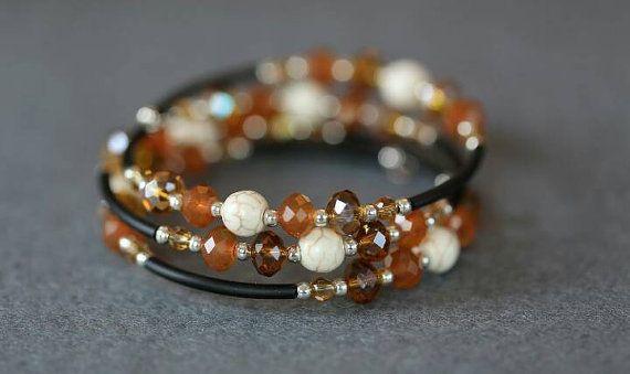 Bekijk dit items in mijn Etsy shop https://www.etsy.com/nl/listing/470894258/mooie-herfst-armband-met-smokey-topaz-en