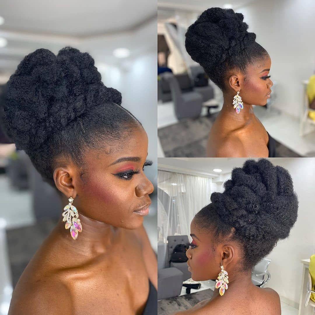 Natural Black Bride On Instagram Repost Aazeshair Abuja Nigeria Gorgeous Bel Bridal Hair Inspiration Natural Hair Wedding Natural Hair Styles