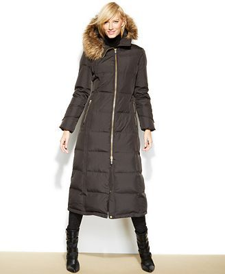 Calvin Klein Hooded Faux-Fur-Trim Down Puffer Maxi Coat | My Style