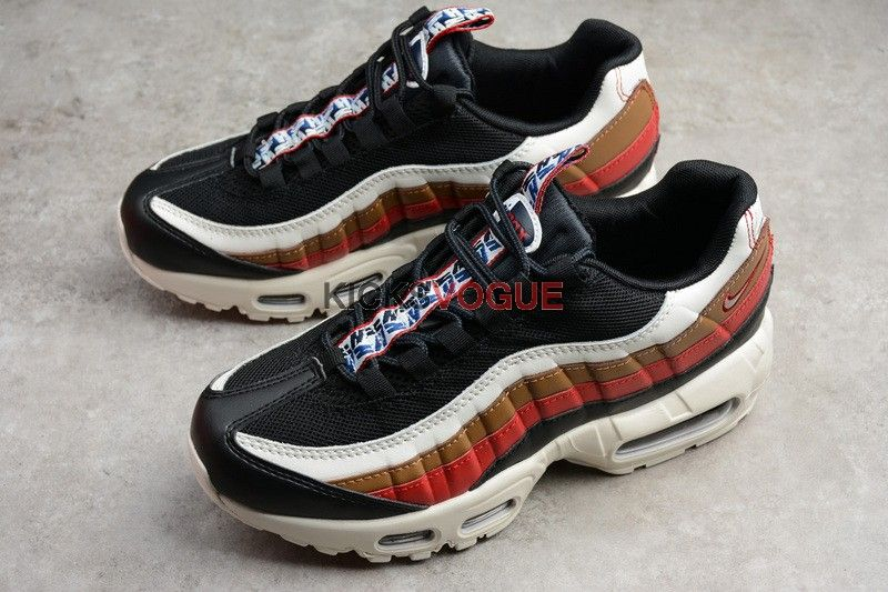 NIKE AIR MAX 95 TT PRM PULL TAB Navy Red Brown  f9acccabe