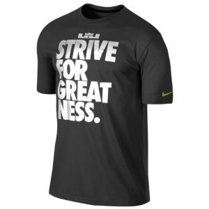 95bb98cdda9d Nike Lebron Strive For Greatness T-Shirt - Men's - Basketball - Clothing -  Black/Black