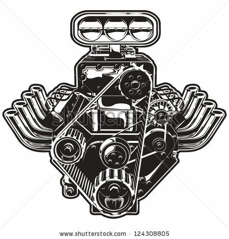 Detailed Cartoon Turbo Engine. Available eps-8 format separated by ...