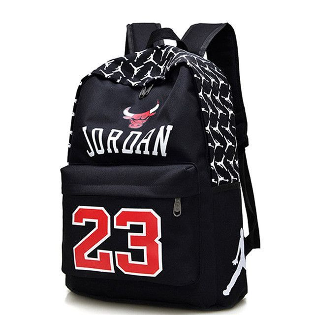 9d26c449c528 New Fashion Men s Schoolbag Chicago Bulls Printing Jordan Backpack Women s