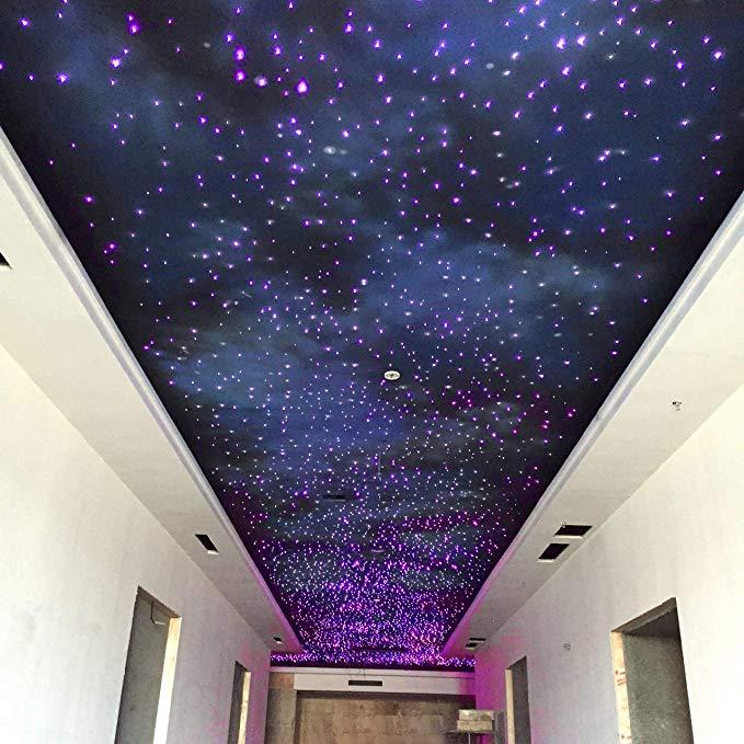 32w Rgb Twinkle Led Fiber Optic Star Ceiling Kit Light 800 Strand 0 75mm Fibre Optic Car Cinema Ceilin Star Ceiling Star Lights On Ceiling Led Lighting Bedroom