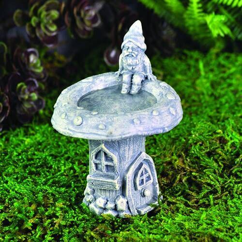 Gnome Garden: Mini Garden Gnome Bird Bath