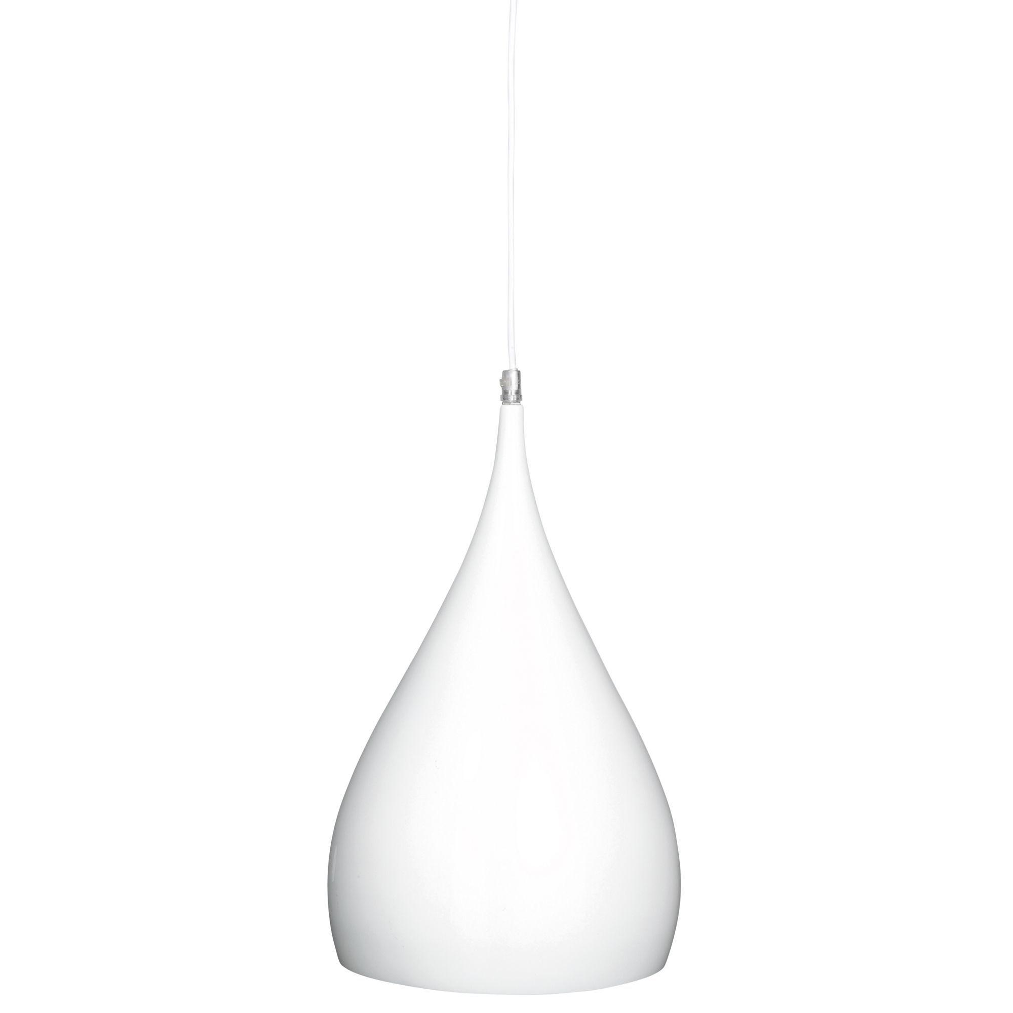 Kinsei White Gloss Pendant Ceiling Light