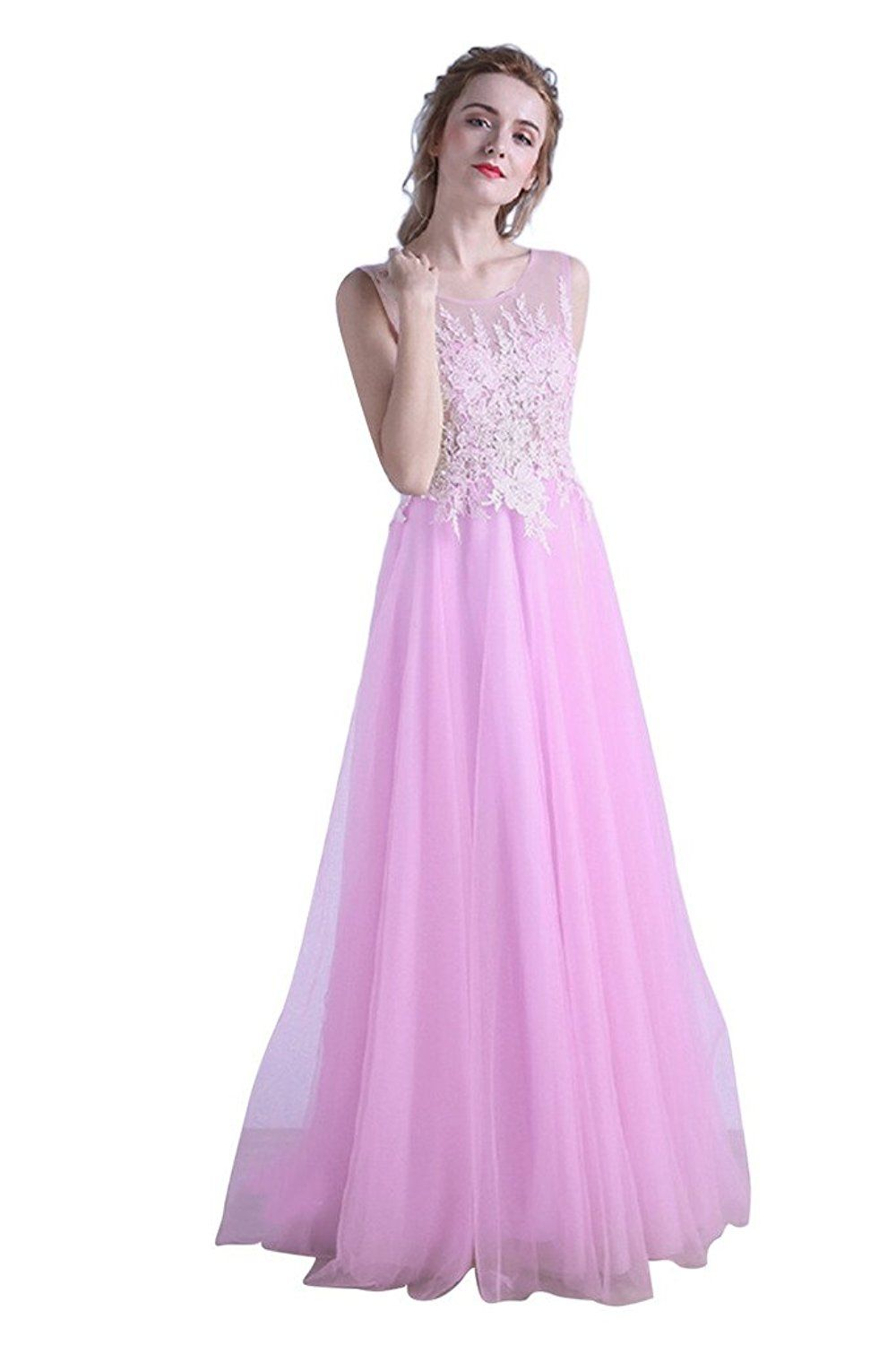 bb9a760f5b0 BessWedding Long Elegant Lace Cocktail Pink Evening Gowns Plus Size for  Ladies     Details can be found by clicking on the image. (This is an  affiliate link ...