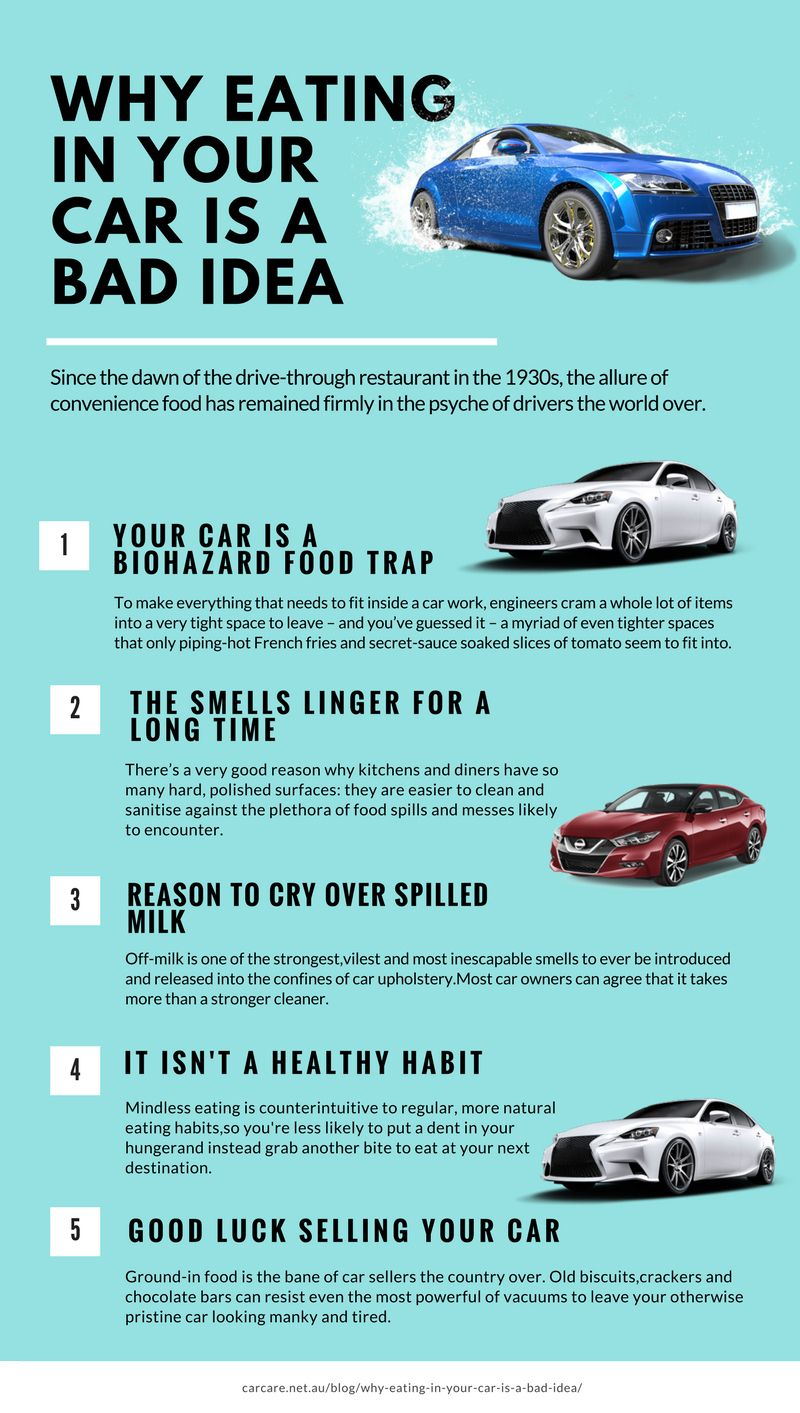 Why Eating in Your Car is A Bad Idea Car detailing, Car
