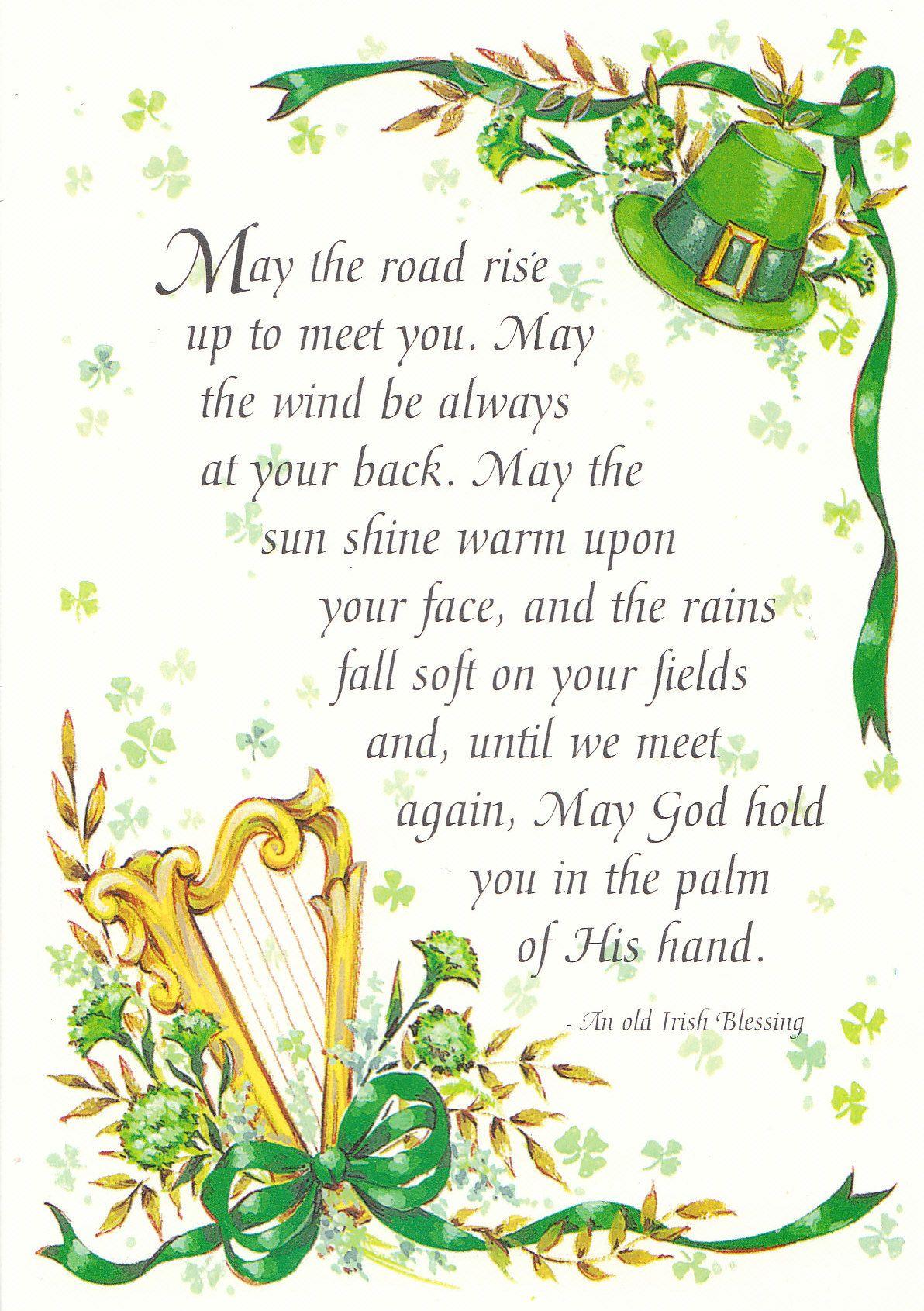St Patricks Day Poem Luck Of The Irish Irish