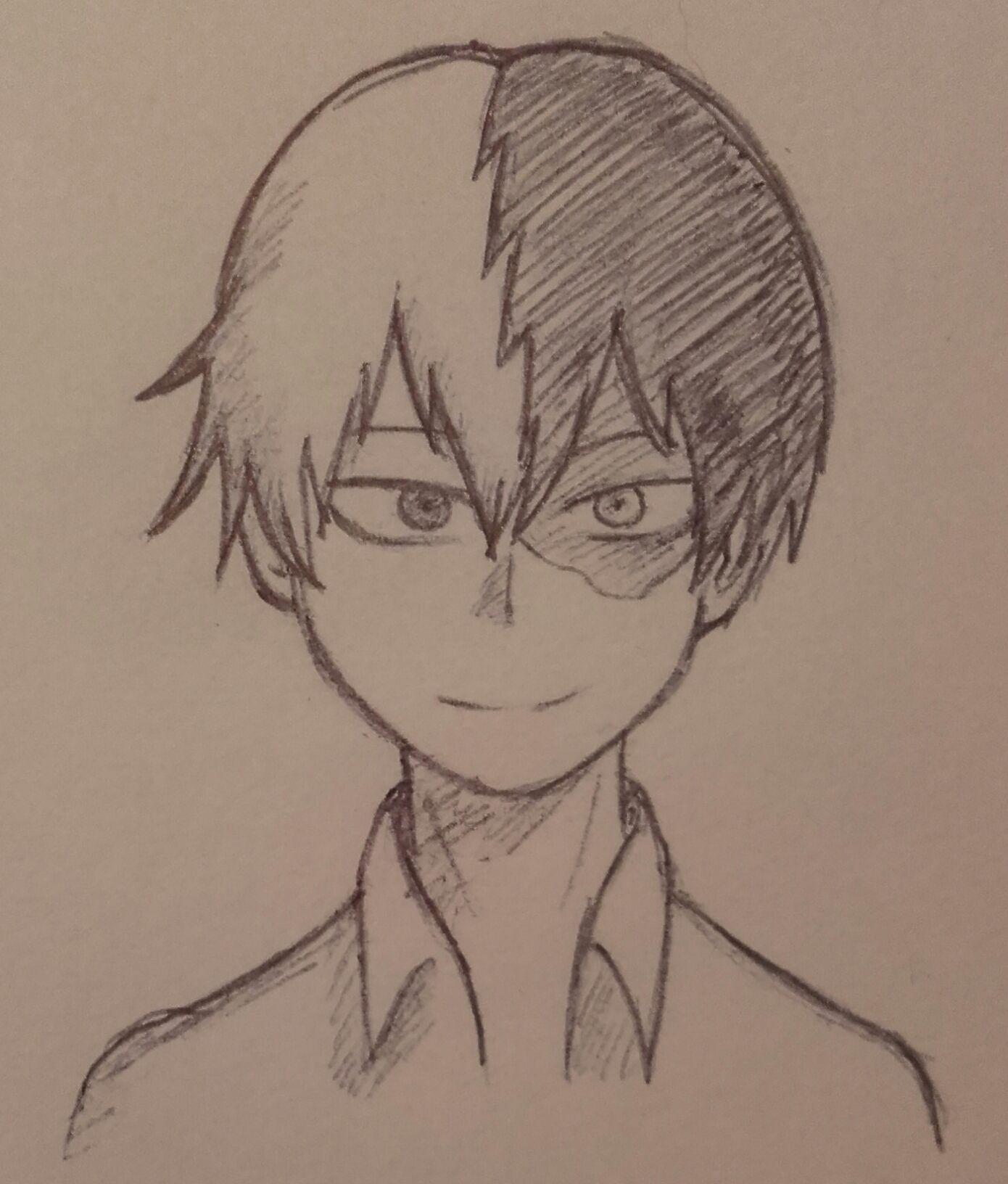 My Hero Academia Drawing Easy Pencil Drawingsketch101 Com In 2020 Easy Drawings Drawings My Hero